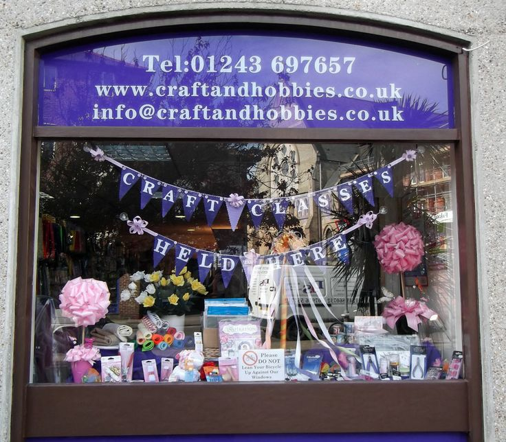 Craft & Hobbies Aprils Window