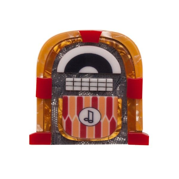 """Limited Edition Jess' Jivin' Jukebox resin brooch (American Diner Collection - Auitumn 2015). """"Just a dime is all it takes and you'll be dancing the night away. Just ask Jess!"""""""