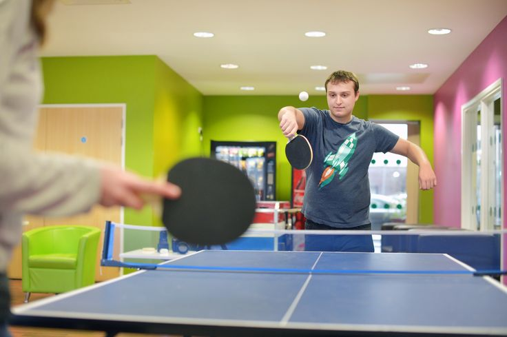 The 24-hour Common Room, on the ground floor, has table tennis, a pool table and cinema room as well as an XBox, PS3 and Sky television. There are monthly events throughout the year, such as a barbecue and FIFA tournament nights.