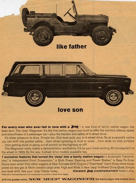 thank you John Predgen, part 1 – vintage Jeep ads