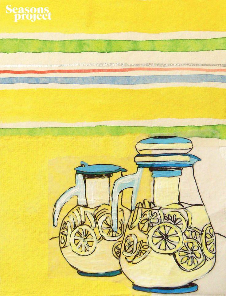 Seasons of life №2 / March-April 2011 issue #seasonsproject #seasons #illustration #art #drawing #lemonade #lemon