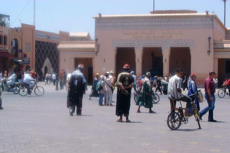 marrakesh square outside souks