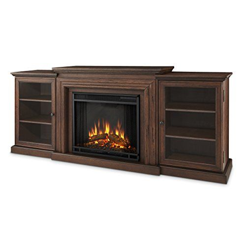 Real Flame 7740E Frederick Entertainment Center with Electric Fireplace, Large, Chestnut Oak