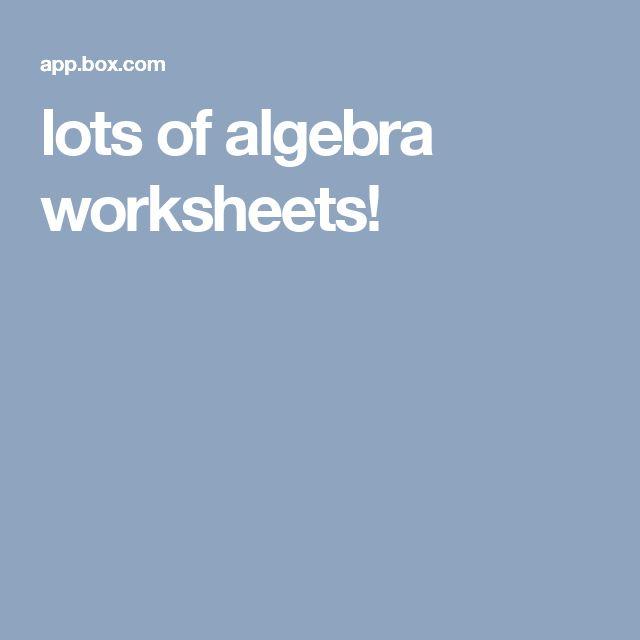 The 42 best Homeschool Math: Algebra images on Pinterest | Solving ...
