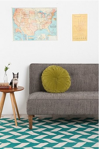 Like these colors...L's room? Could do pops of orange too. BrightNest | Trend Spotting for 2013: Geometric Shapes