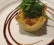 Braised leek and goats cheese tart