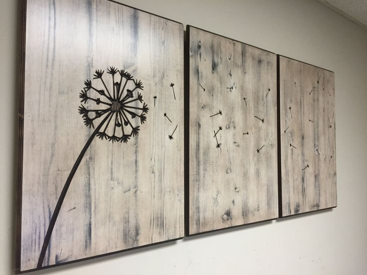Dandelion Wood Wall Art, Home Decor, Wood Sign, Carved, Hanging, Rustic