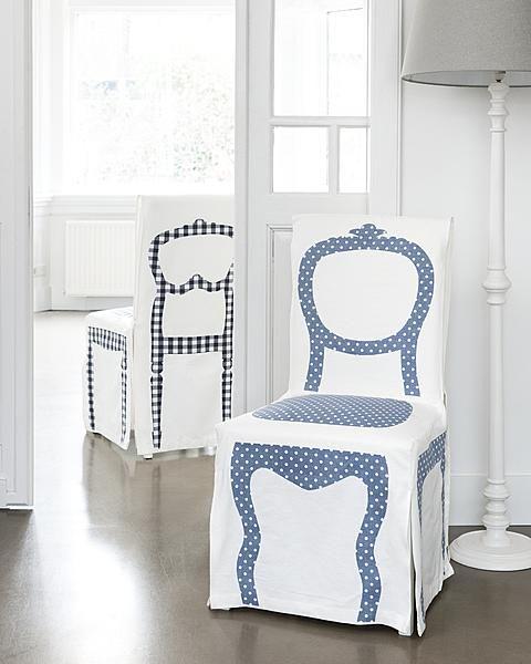 DIY Trompe l'oeil chair covers by Ariadne at Home