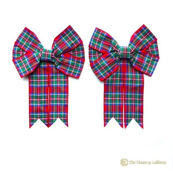 black watch pipe majors kilt bow gaelic knot rosettes made in scotland for the kilt