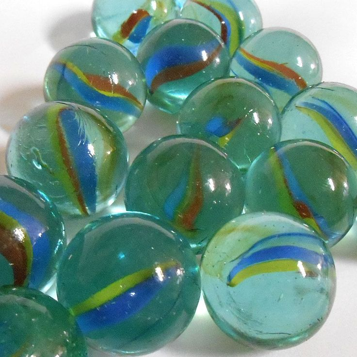 Vintage 20 Pc Cats Eye Glass Marble 1 Quot Shooter Tri Color