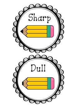 Sharp Dull Pencil Labels                                                                                                                                                     More