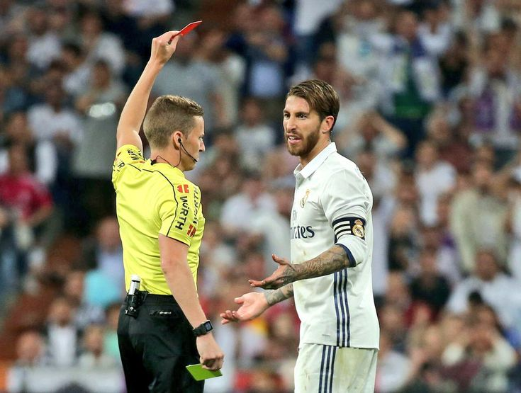 Sergio Ramos: The most Red Cards for one player in La Liga history. #realmadrid #football