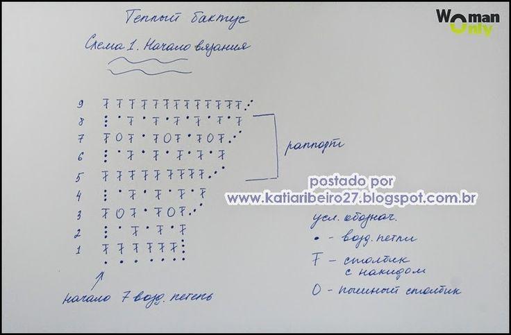Lacy gray crochet baktus (chart 1/2)