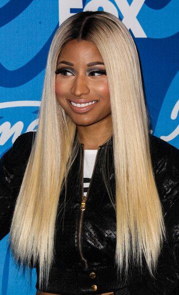 Nicki Minaj's Sleek and Straight Blonde Locks