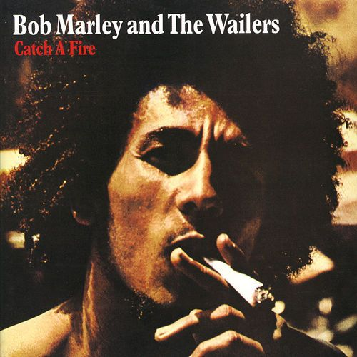 """Catch a Fire, an Album by Bob Marley and The Wailers. Released in April 1973 on Island (catalog no. ILPM 9241; Vinyl LP). Genres: Roots Reggae, Reggae.  Rated #17 in the best albums of 1973, and #535 in the greatest all-time album chart (according to RYM users).  Featured peformers: Bunny Wailer (congas, bongos, vocals), Bob Marley (vocals, acoustic guitar, producer), Carlton Barrett (drums), Peter Tosh (piano, organ, guitar, vocals), Aston """"Family Man"""" Barrett (bass), Chris Blackwe..."""
