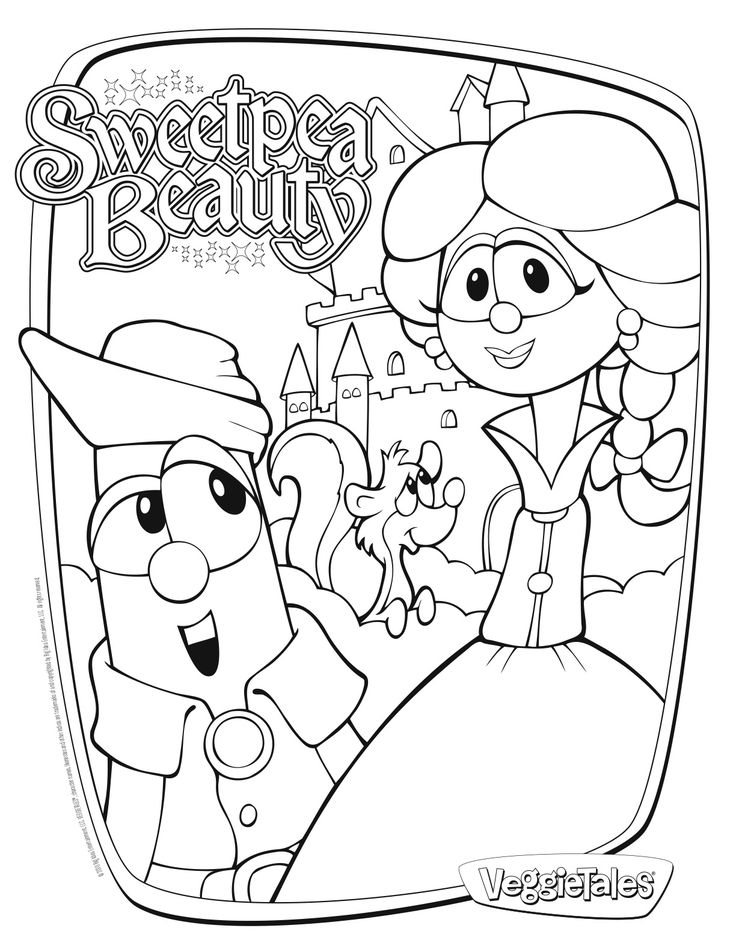 veggie tales madame blueberry coloring pages | 198 best images about VeggieTales on Pinterest
