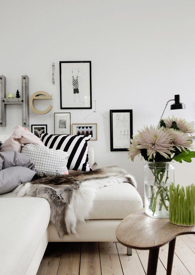 style-scandinave, mélange d'imprimés et de cocooning : http://www.idee-deco-by-helline.fr/decoration-scandinave-inspirations-deco