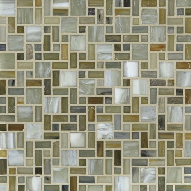 Contemporary Tile From Stone Pewter Accents Model Gendai Mila Silk