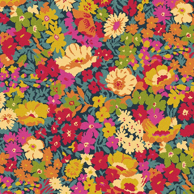 Quirky B Liberty Fabrics Flowers of Thorpe Summer Garden (7525)