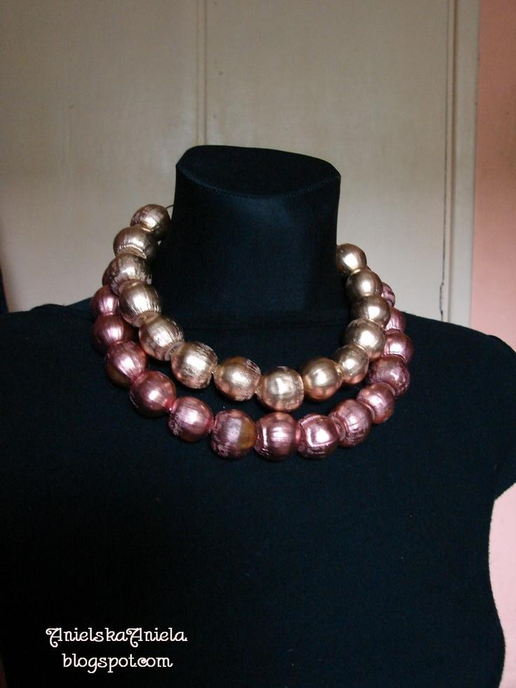 DIY..Tutorial..Nszyjnik..kolia...z żołędzi.... - Anielska Aniela-DIY,Tutorial,szycie, przeróbki, inspiracje,biżuteria,vintage,retro