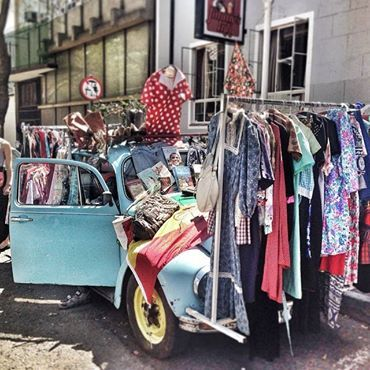 Pop up VW Beetle vintage store. Catch these guys on Juta Street on Saturdays. ‪#‎Braamfontein‬ ‪#‎discoverjoburg‬. Photo by Mzanzigirl.