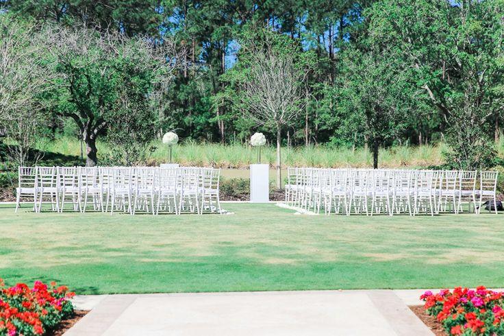 Beautiful outdoor Florida garden wedding ceremony at Four Seasons Resort at Walt Disney World (Scribbled Moments Photography)