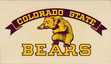 Colorado State College of Education RARE ORIG 50's Decal vtg NCAA pre UNC Bears!