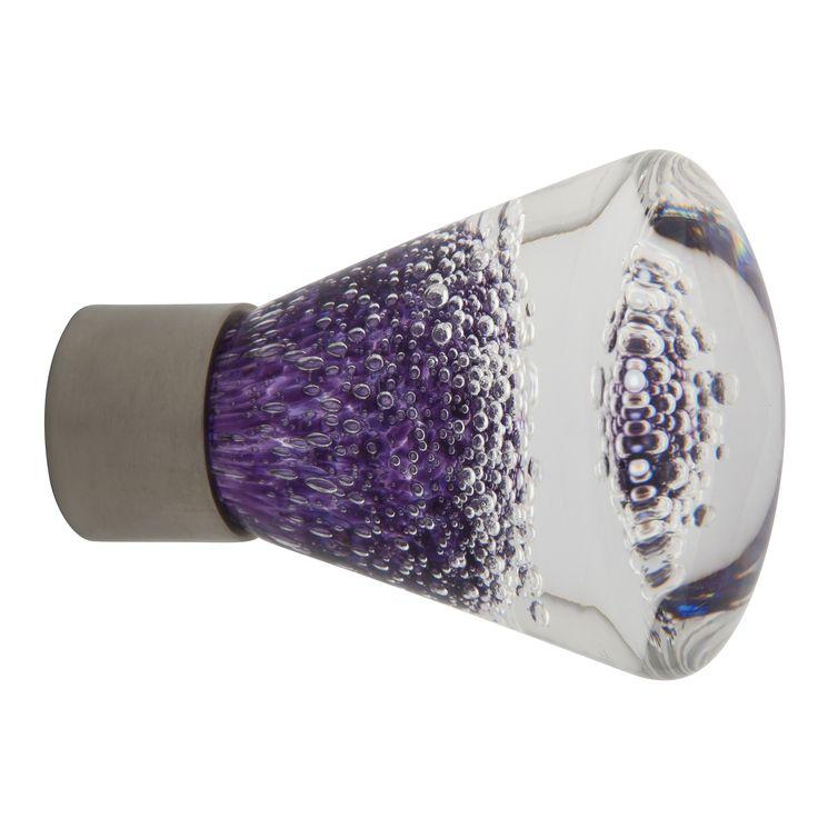 Bouton de meuble conique gamme séduction  microbulles hyacinthe  Fait main