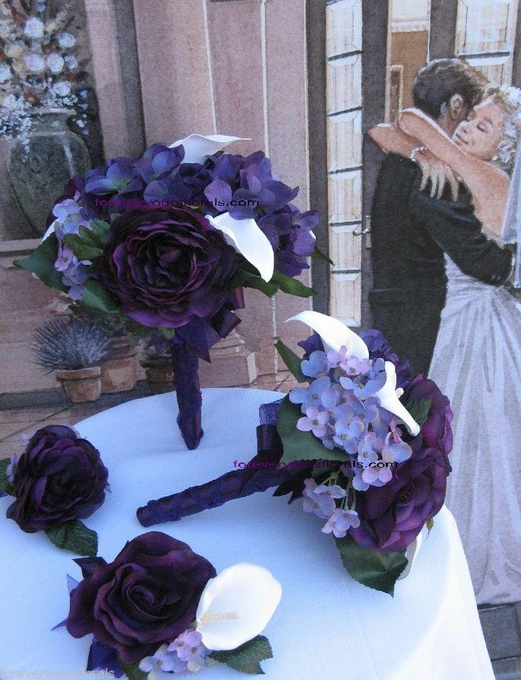 New Plum Bridal Bouquets Plum Wedding Flowers Plum