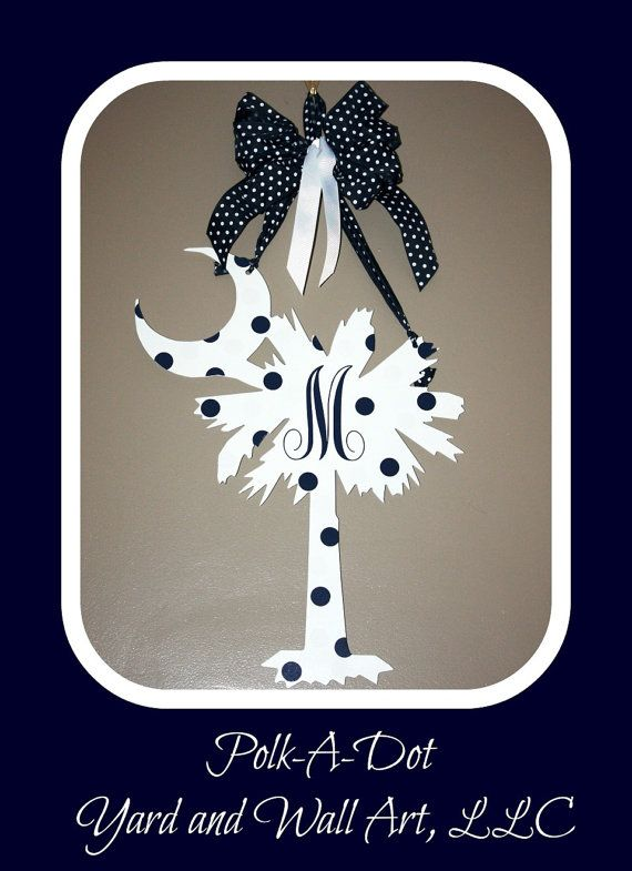 Sc Palmetto Tree With Crescent Moon Metal Art For Door
