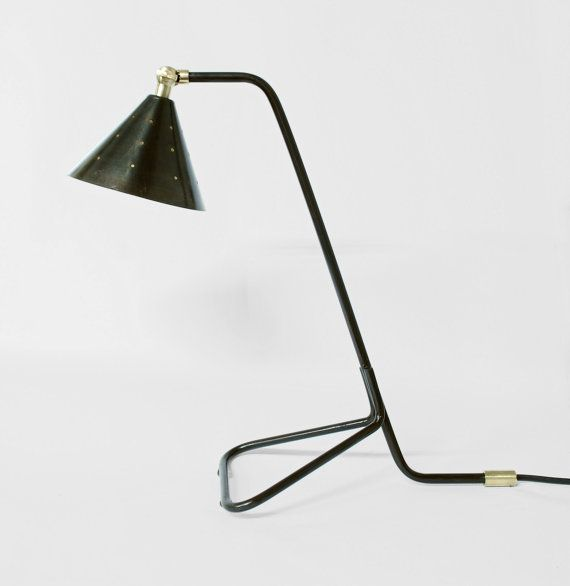 Tone Lamp Patina Black Desk Lamp Patina Metal & by TOMASATELIER