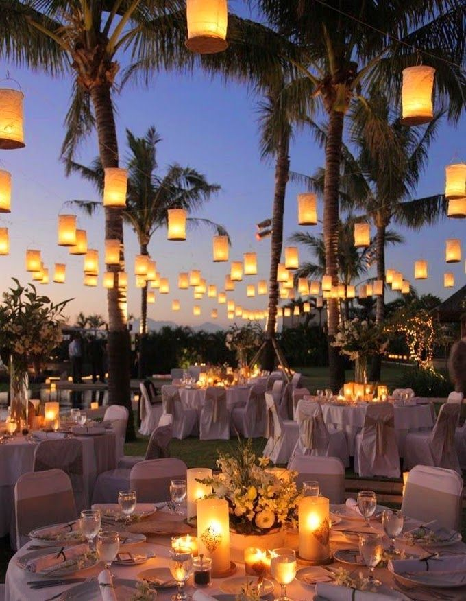 Lanterns - Creative lighting idea for the wedding reception