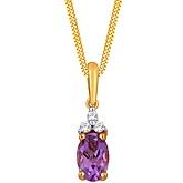 G Divas 18KT Yellow Gold Pendant with 0.5CT Diamonds - GIP00041