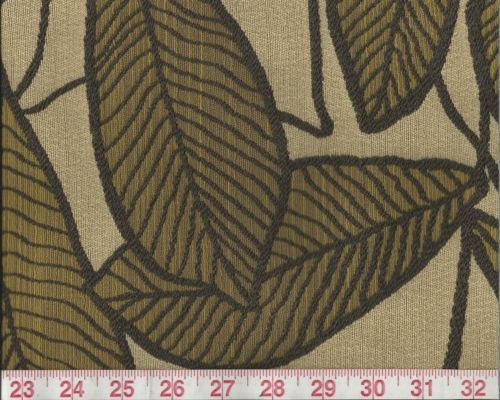 Brown-Woven-Botanical-Leaf-Upholstery-Fabric-Catalina-Olive-By-Zhongwang-BTY