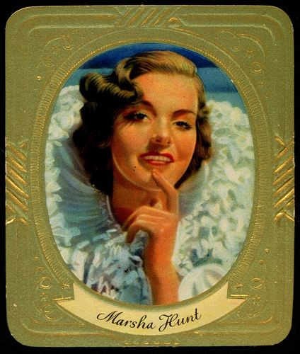 German Cigarette Card - Marsha Hunt | Flickr - Photo Sharing!