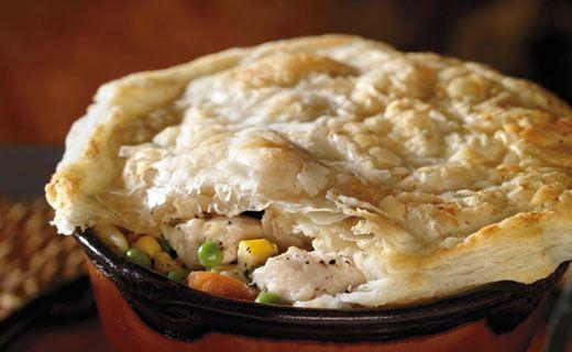 Lunch/Dinner: Epicure's Easy Chicken Pot Pie (390 calories/serving)