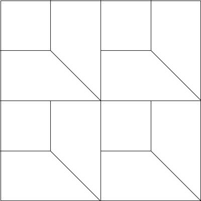 Oriental Attic Windows Quilt Block Pattern