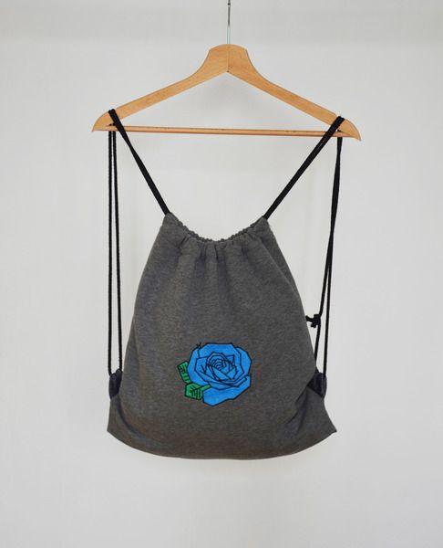 Plecak worek - Róża w BLOUZ  na DaWanda.com
