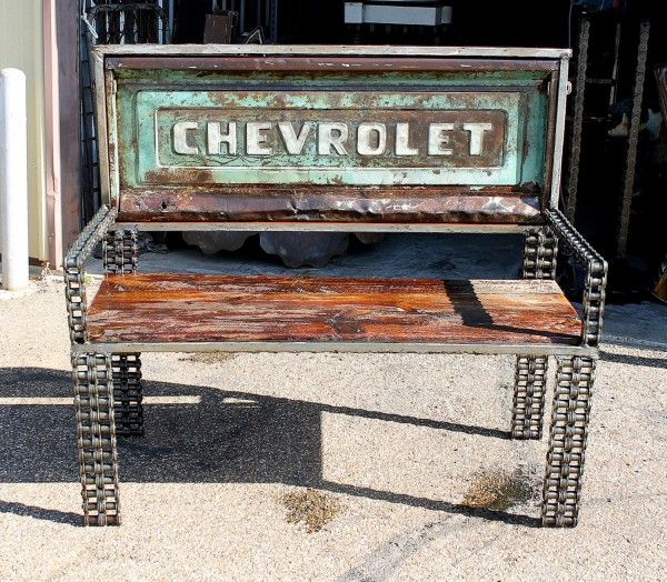 Vintage truck parts transformed into benches in furniture metals  with Vintage Trucks Recycled Furniture car parts Benches