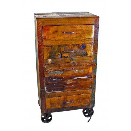 Wooden Chest With Wheels Mexican Decor. Old World FurnitureMexican ...