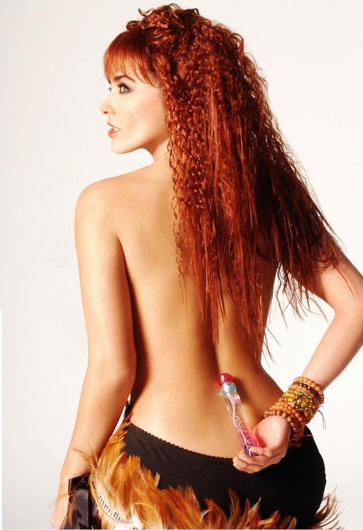 Bald pussy redhead