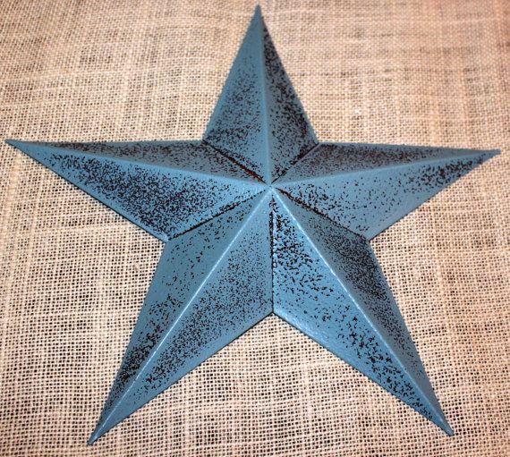 Set of 12  5 Metal Tin Barn Star  Wall by TheLittleYellowBarn, $30.00