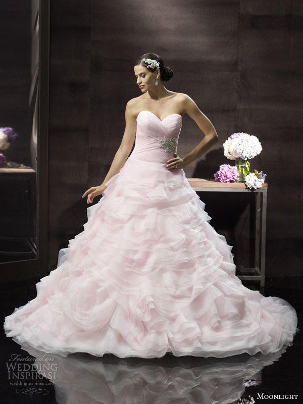 moonlight couture blush pink wedding dress h1241 spring 2014