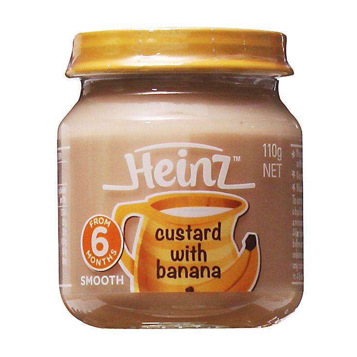 Heinz Custard with Banana Baby Food   RedMart