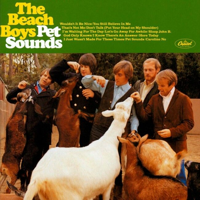 The Beach Boys - Pet Sounds, fifth only to The Beatles top fab four - influenced by Rubber Soul, influencing Sgt Pepper.