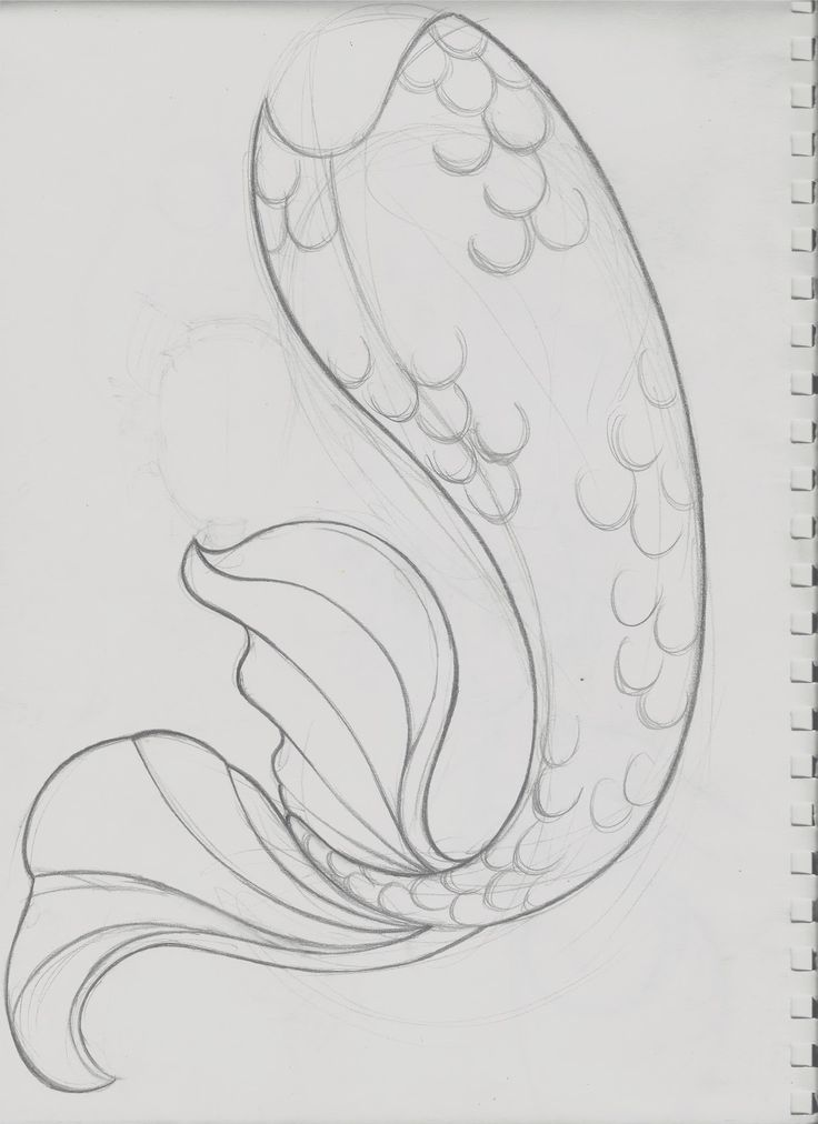 mermaid outline template | After having scanned the image, I aligned the pieces in photoshop to ...