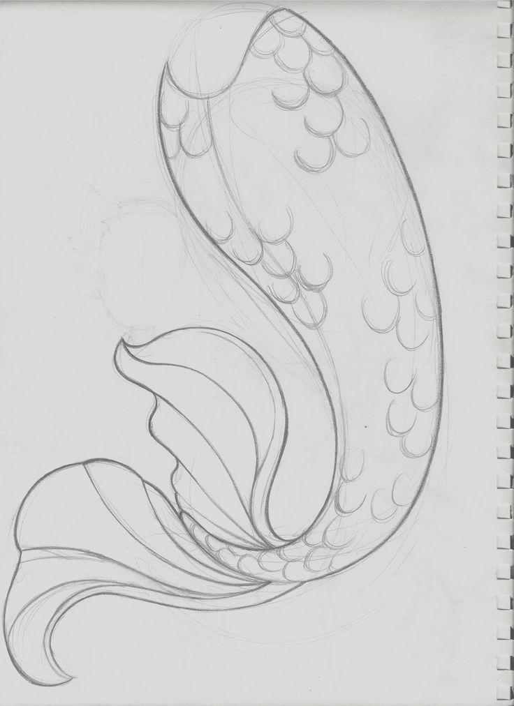 Mermaid Outline | Tail