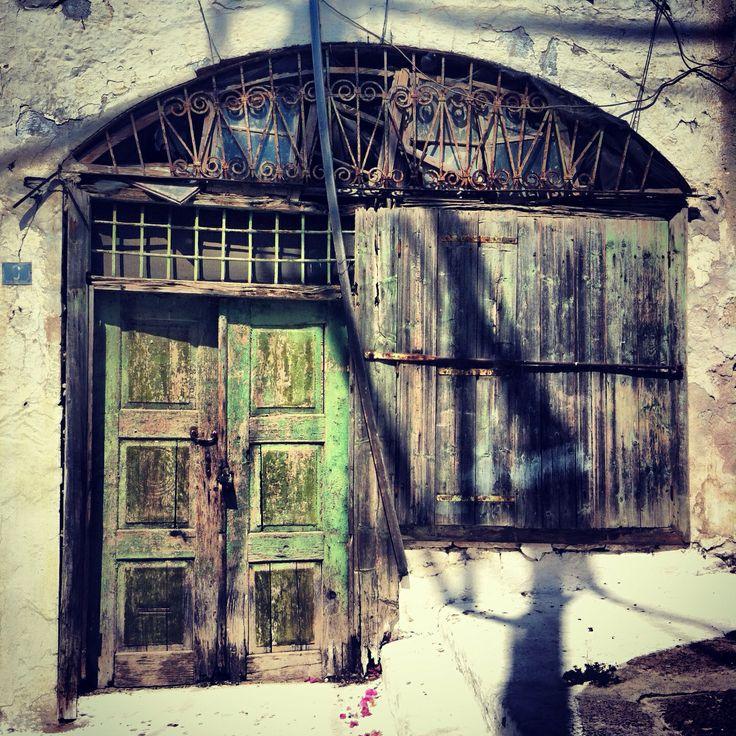 Greek doors, poros, Greece