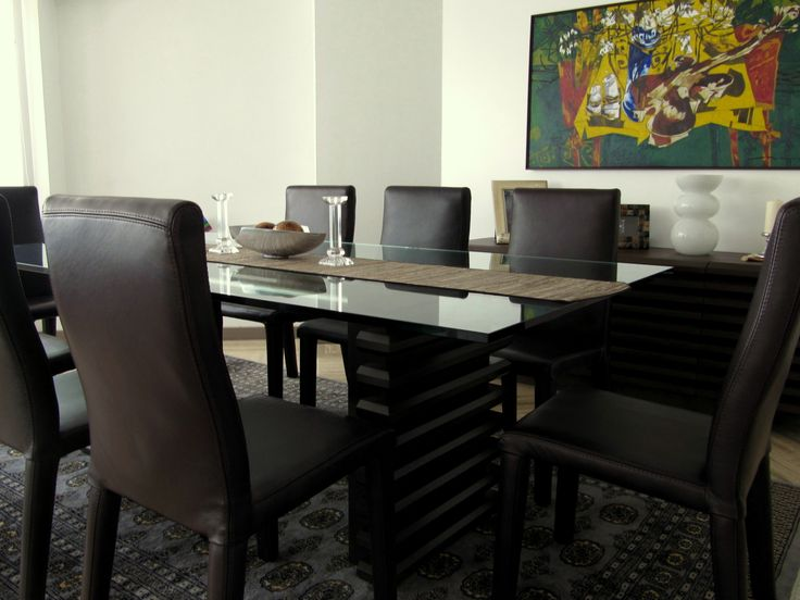CONTEMPORARY DINING ROOM Abatara Dining Set Zientte Houston