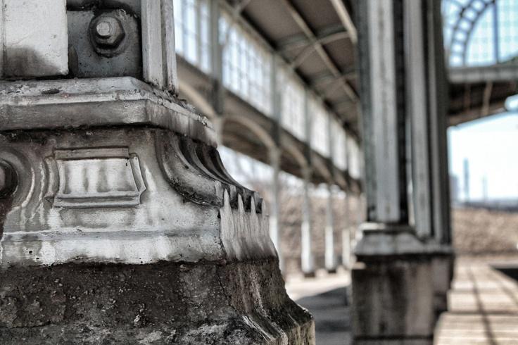 Pillars of the old Joburg train station